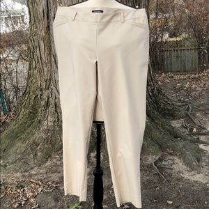 WHBM Cream Perfect Form Slacks Size 14R